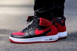 Nike Air Force 1 Mid Black Gym Red Thumb