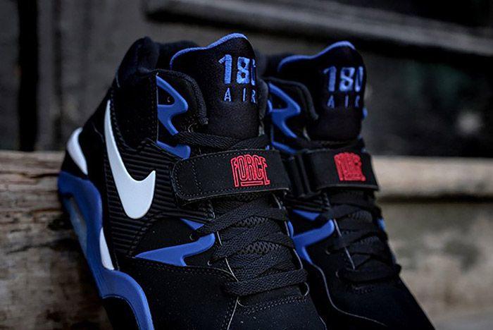 Nike Air Force 180 Black Sport Royal 2