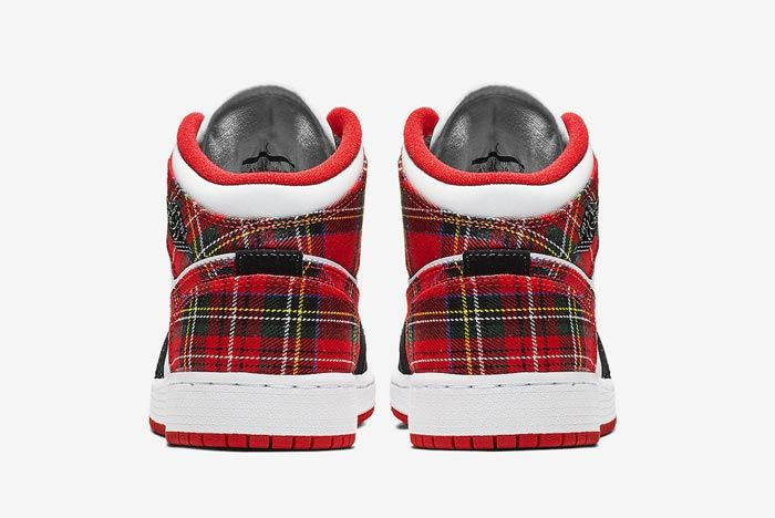 Air Jordan 1 Mid Plaid 5
