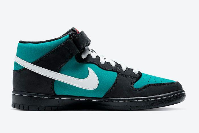 Nike Sb Dunk Mid Griffey Cv5474 001 Medial