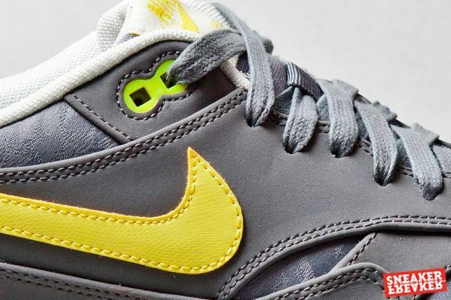 Nike Air Max 1 Prm Cool Grey Sonic Yellow Jaquard 1 Det