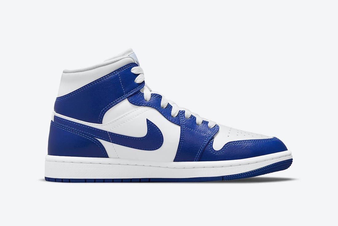 Air Jordan 1 Mid Blue/White