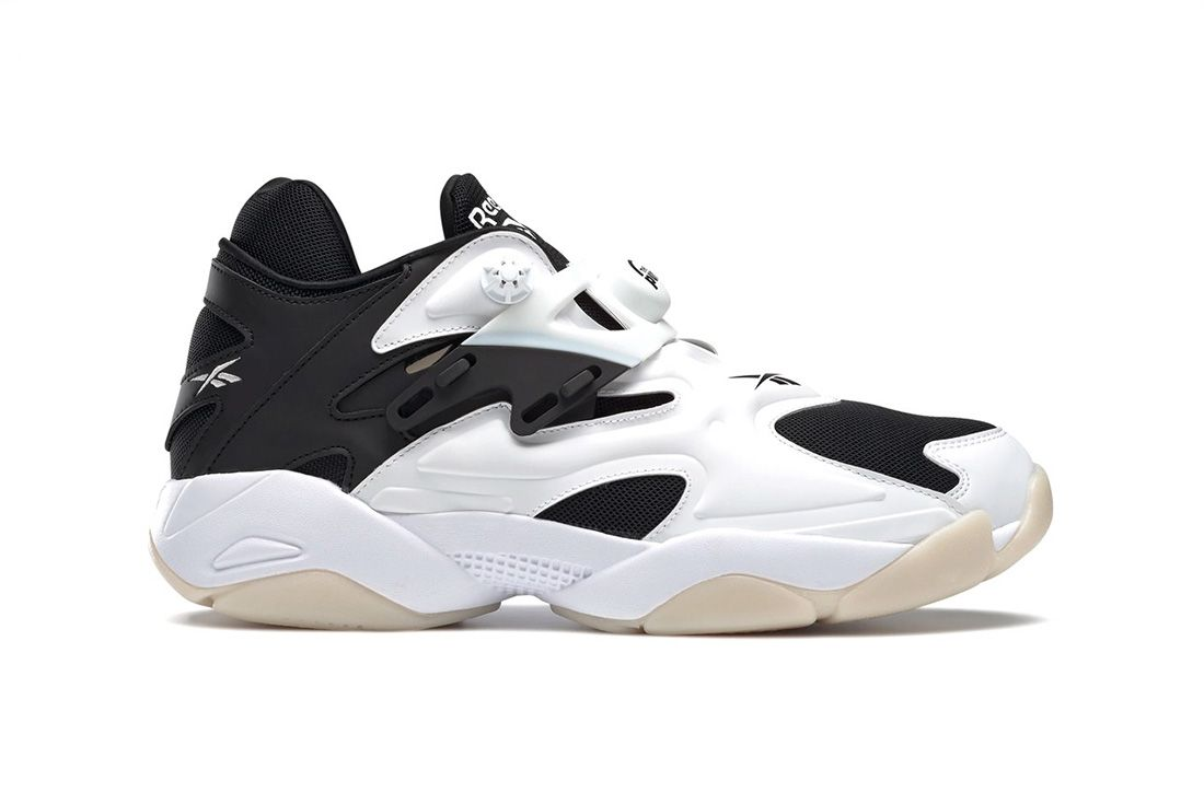 Reebok Pump Court White Black Lateral