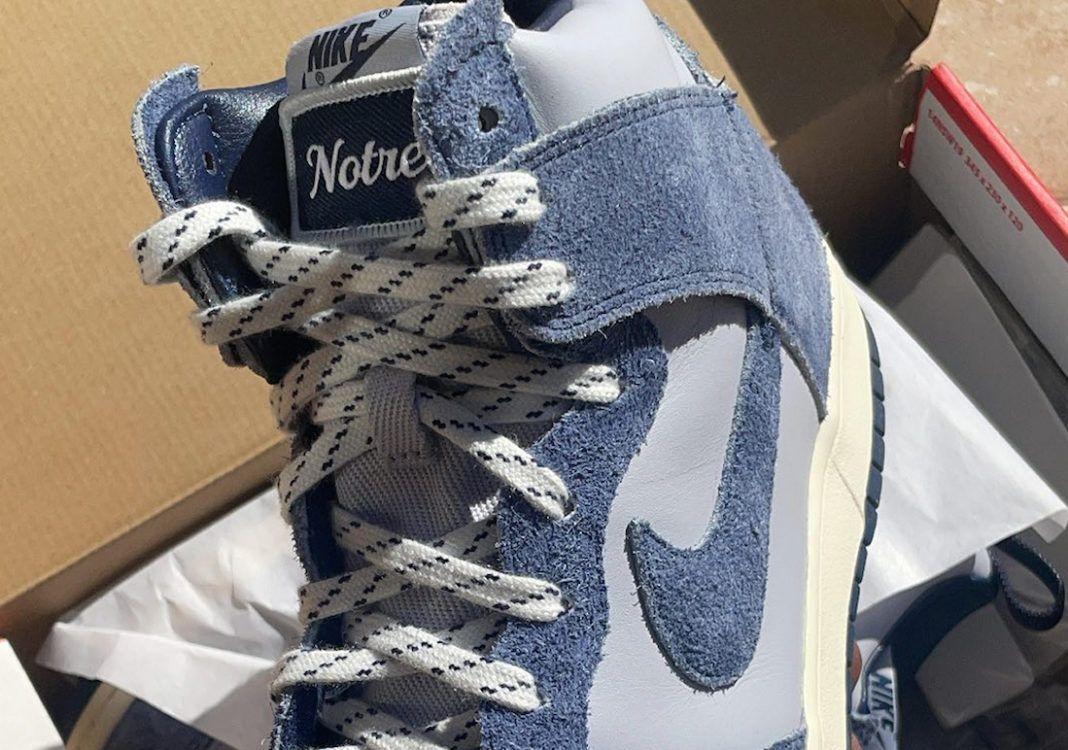 Notre Nike Dunk High Blue Void