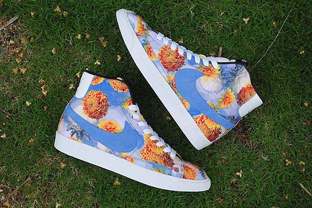 Nike Blazer Mid Premium Vintage Floral Pack Blue