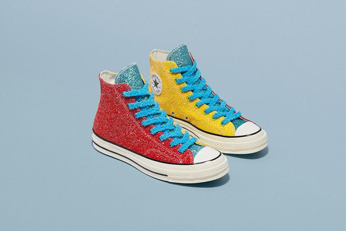 Jw Anderson Converse Chuck 70 Red Blue Yellow Glitter Release Date Pair