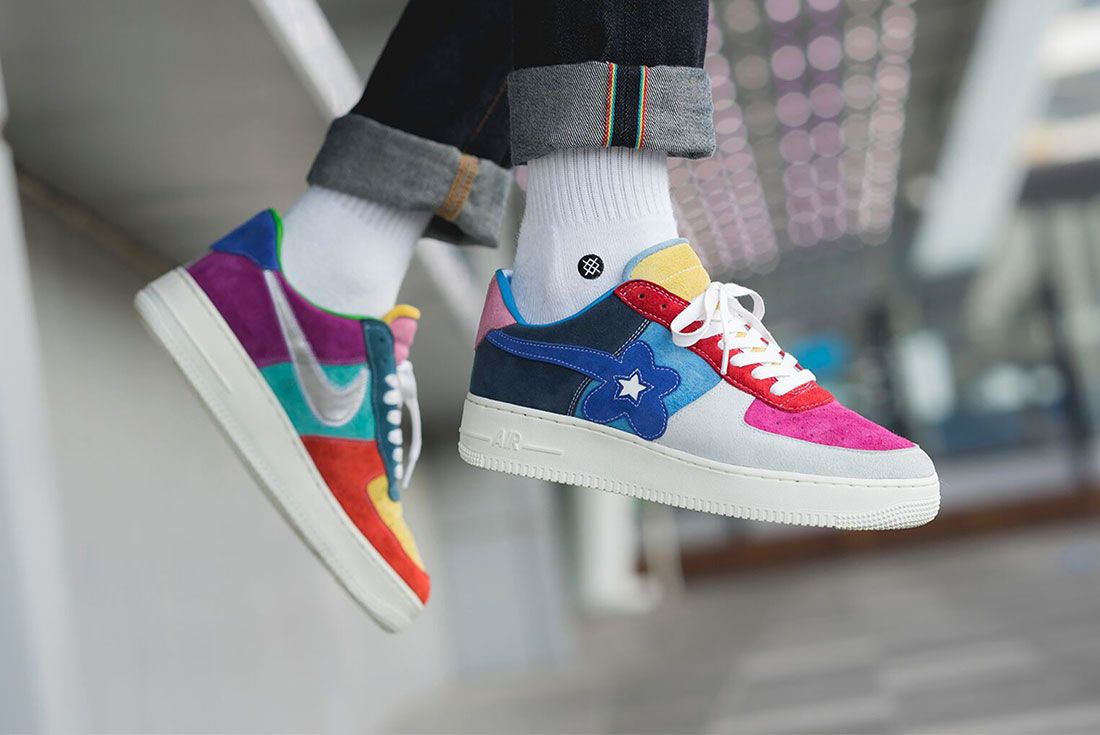 Bespoke Ind Easter What The Swoosh Air Force 1 On Foot4