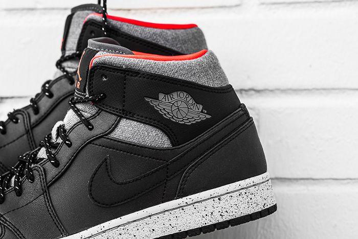 Air Jordan 1 Mid Black Cement6