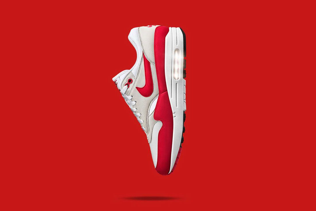 Nike Air Max 1 Anniversary Red On Red Background