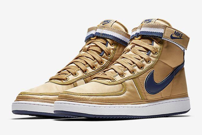 Nike Vandal High Supreme Metallic Gold Navy 1