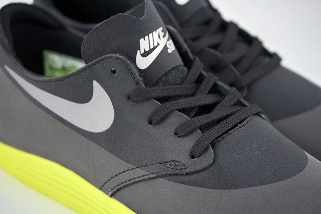 Nike Sb Lunar Oneshot Black Reflect Silver Volt Tongue