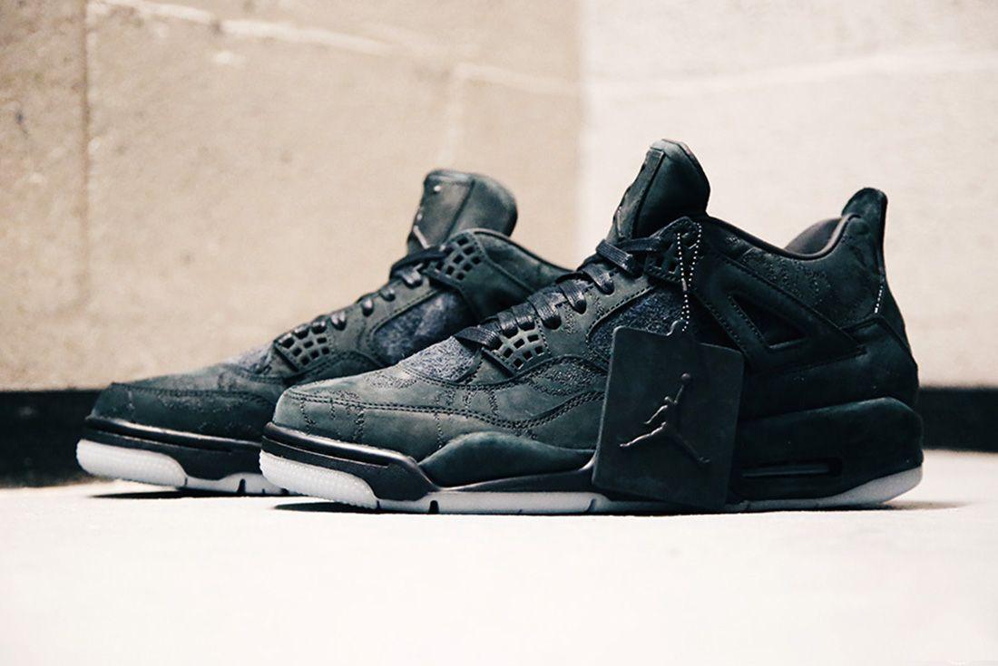 Air Jordan 4 Kaws Black Detail Sneaker Freaker 5