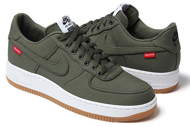Nike Air Frce 1 Supreme Green 1