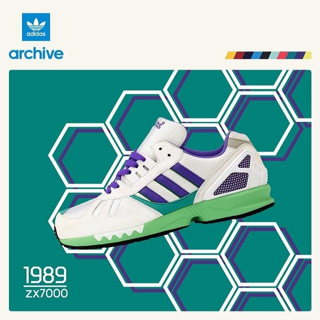 Adidas Zx 7000 Purple Green White1