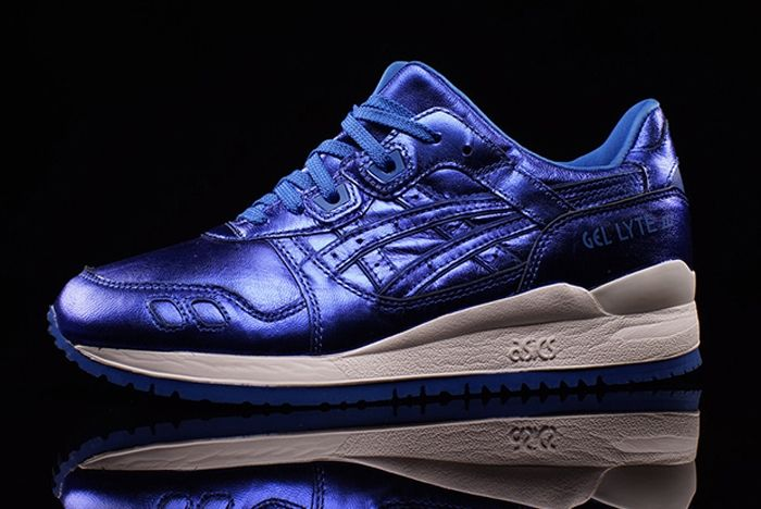 Asics Gel Lyte Iii Wmns Metallic Blue 3