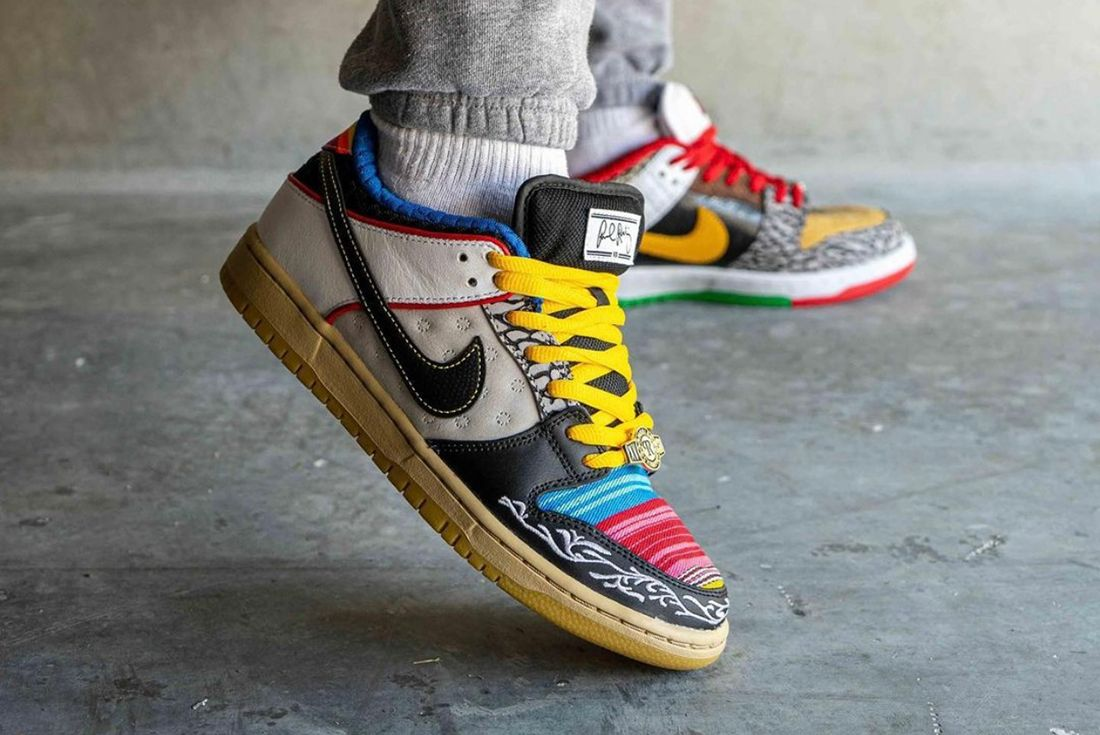 nike sb dunk low what the p rod on foot shot