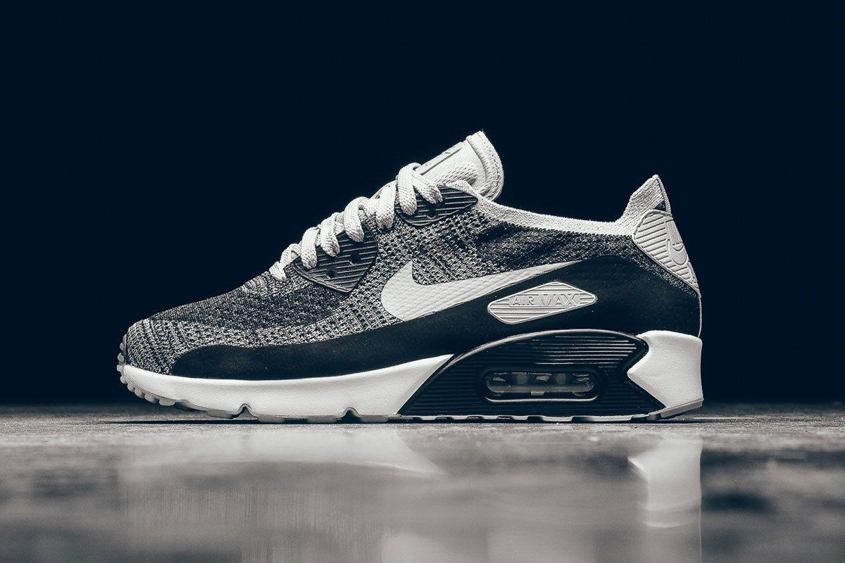 Nike Air Max 90 Ultra Flyknit Wolf Grey Pure Platinum