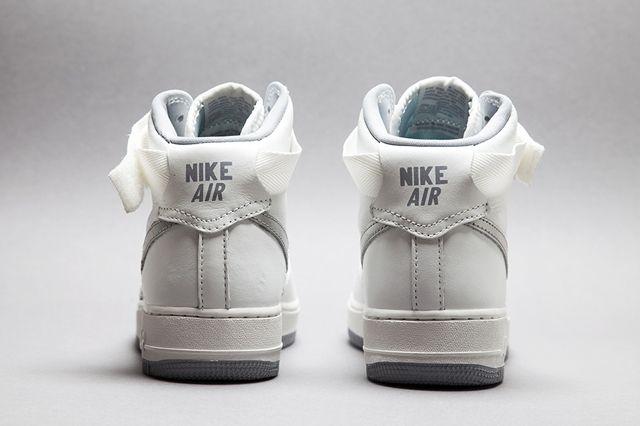 Nike Af1 Hi Summit White Silver Bumper 2