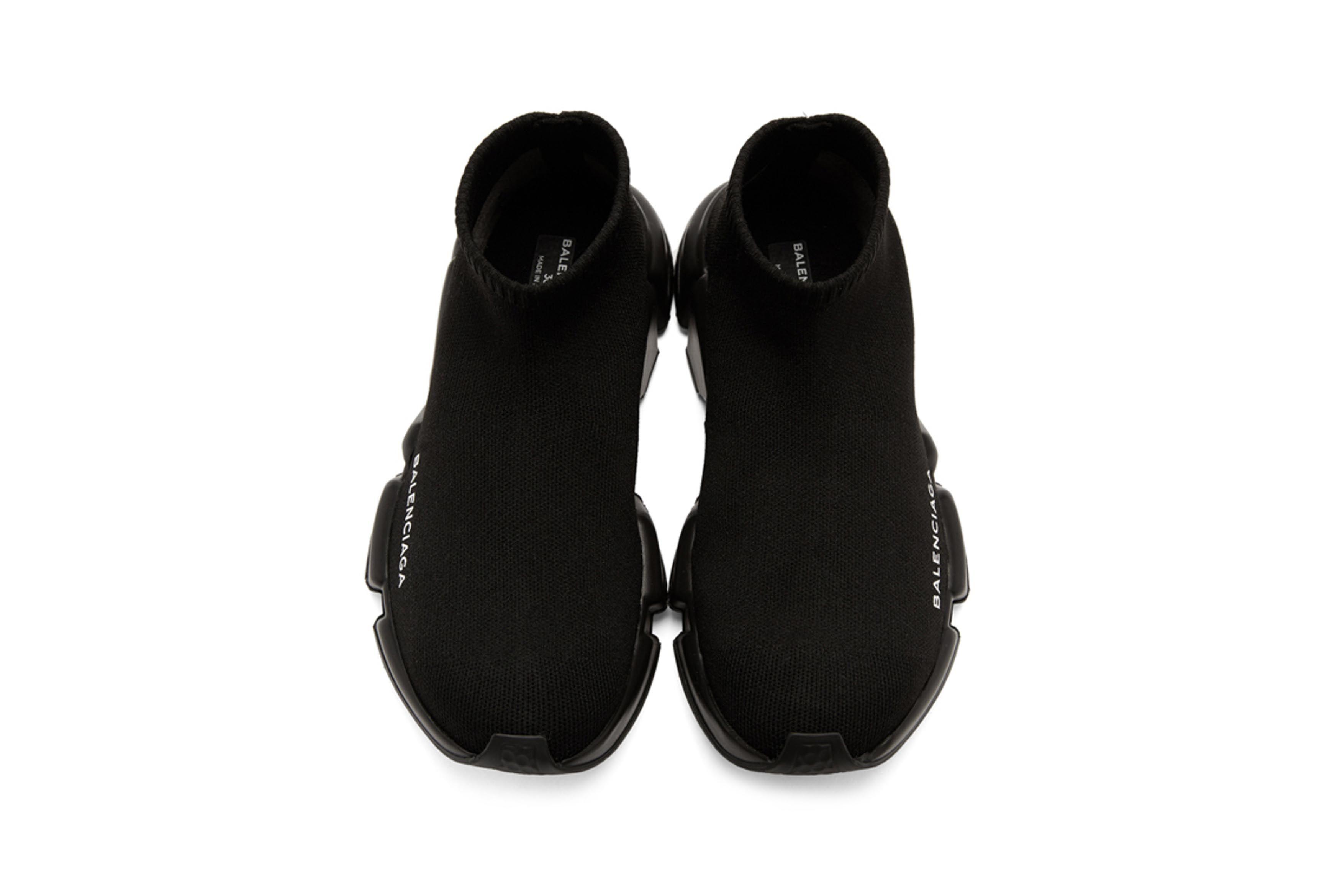 Balenciaga Speed Low High Top Sneakers Black Navy 2 Sneaker Freaker