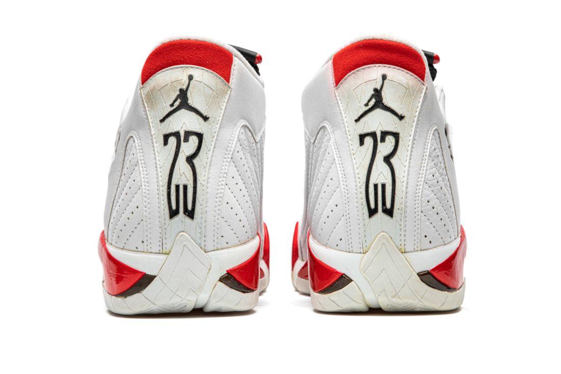 Air Jordan 14 'Chicago' Practice-Worn Player Exclusive Heel