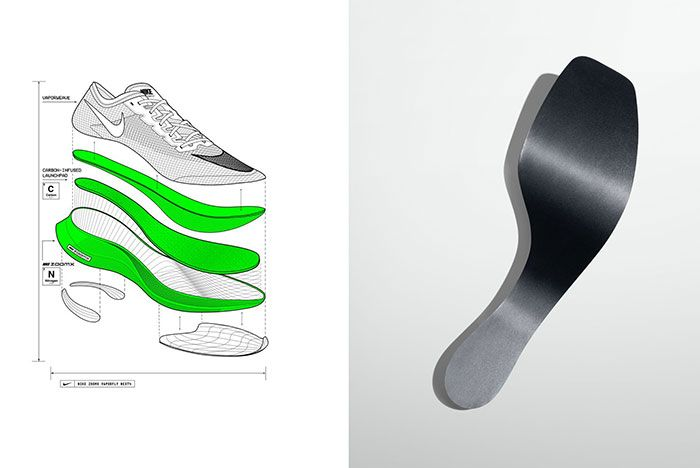 Nike Zoomx Vaporfly Next Percent Carbon Plate Diagram