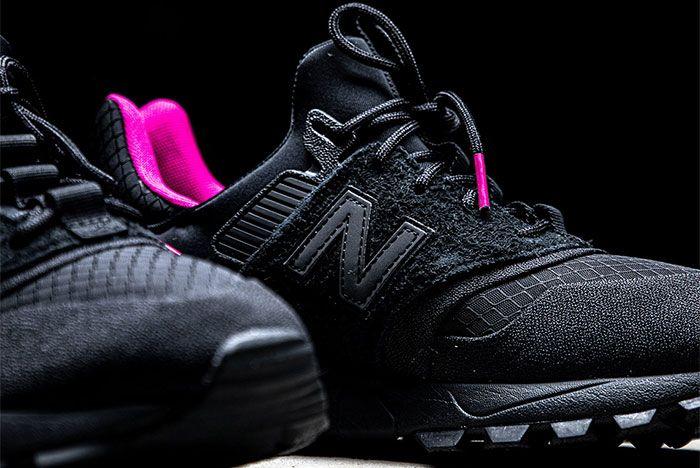 New Balance 997S Black Pink Toe Close Up