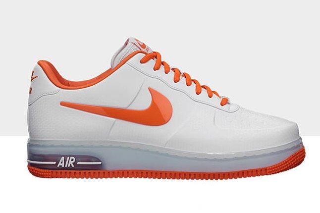Nike Air Force 1 Foamposite Low White Orange 1