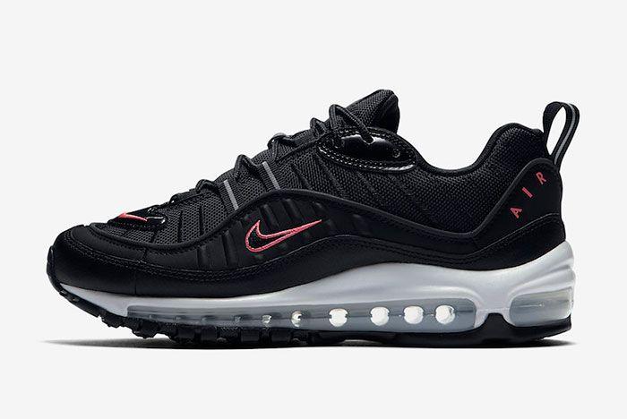 Nike Air Max 98 Black Pink Cn0140 001 Release Date Side