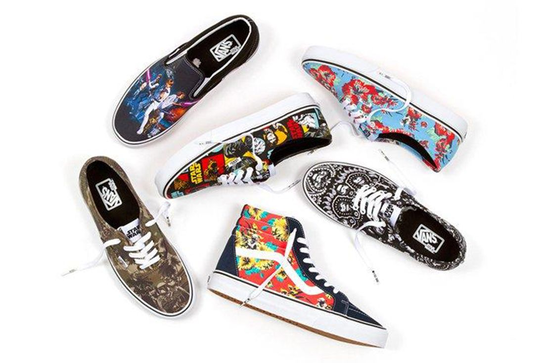 Vans Star Wars Sk8 Hi Slip On Era Authentic Floral Pack