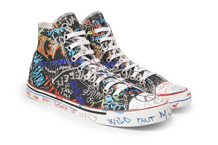 Vetements Graffiti Canvas Sneakers High Top 01 Sneaker Freaker11