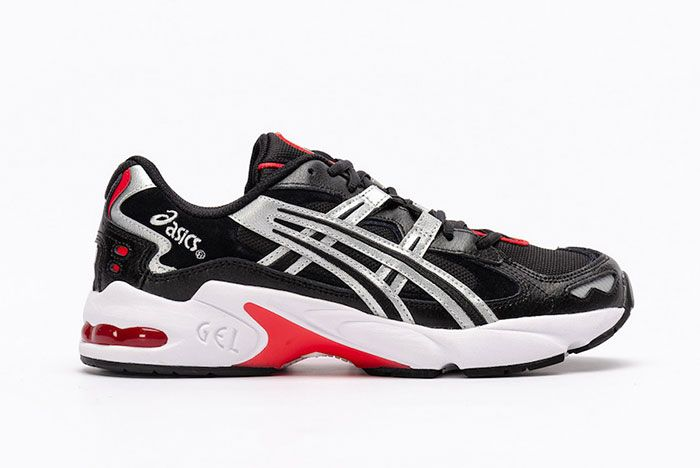 Asics Gel Kayano 5 Og Black Metallic Red Lateral