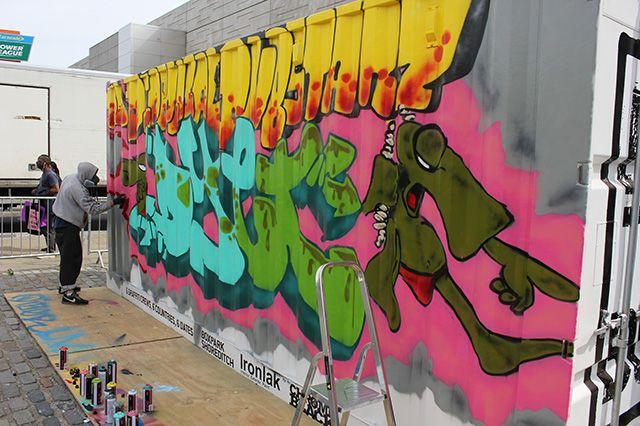 Boxpark Live Graffiti Zombie Dyet Dds 9