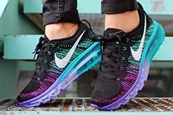 Nike Flyknit Max Purple Venom Turbo Green Thumb