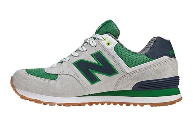 New Balance 574 The Yacht Club Collection Green Profile 1