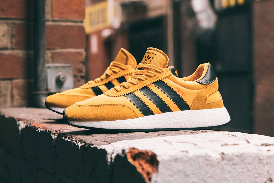 Adidas Iniki Runner Goldenrod Yellow 5