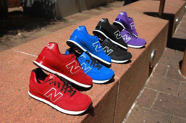 New Balance 574 Monochrome Nubuck Pack 3