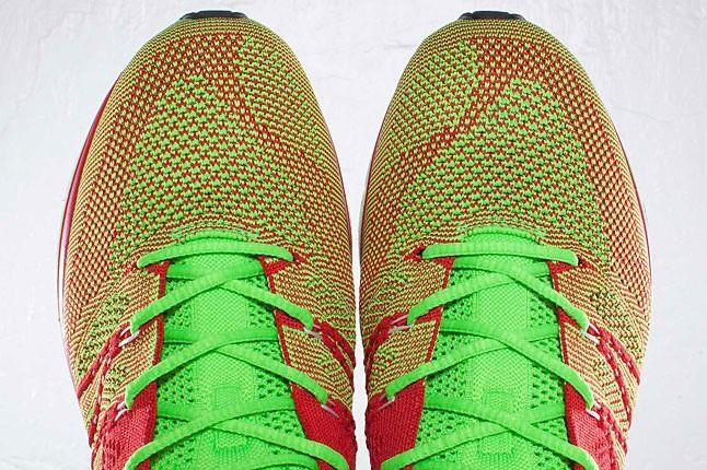 Nike Flyknit Red Green Toe 1