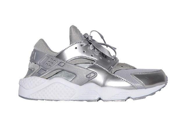 Nike Wmns Air Huarache Metallic Silver 5
