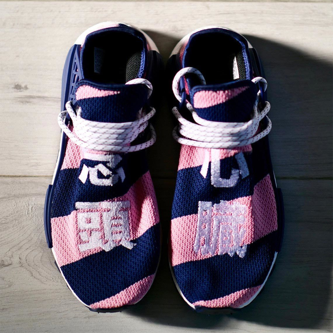 Bbc Pharrell Bbc Hu Nmd Pink Blue 4
