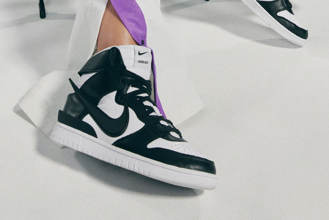 AMBUSH x Nike Dunk High and NBA Collection official shot