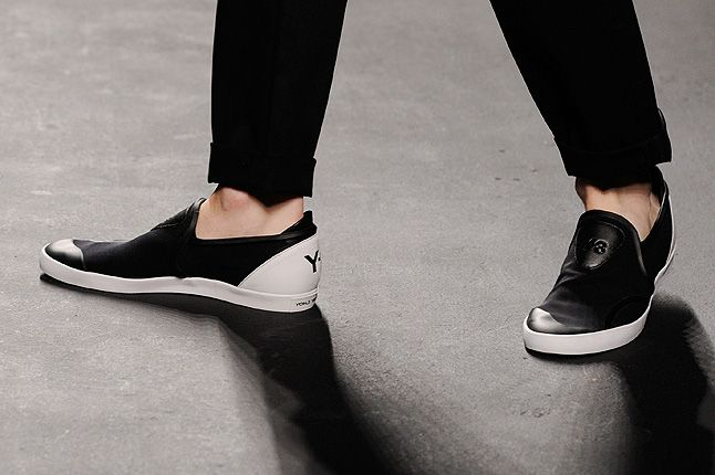 Y3 Black Leather Upper White 1