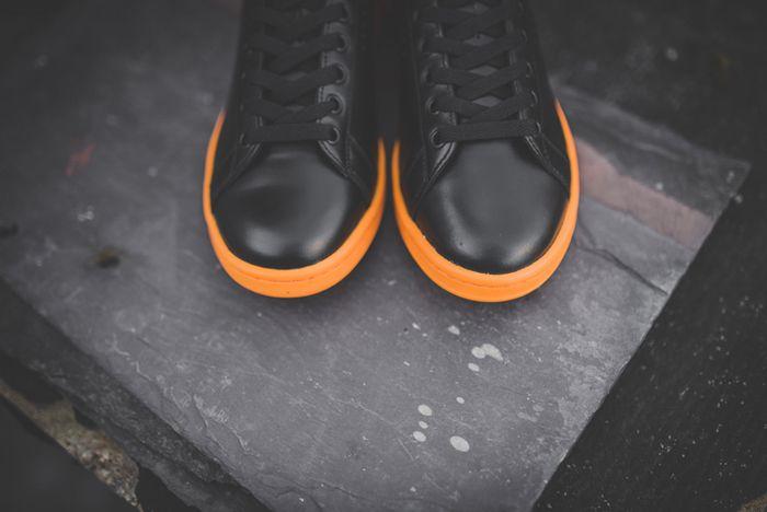 Raf Simons X Adidas Stan Smith Black Bright Orange 3