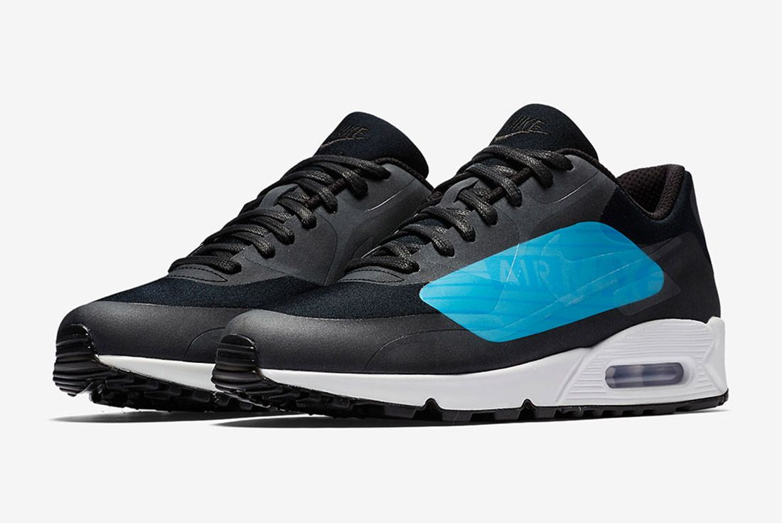 Nike Air Max 90 Big Logo Laser Blue Black Sneaker Freaker 2