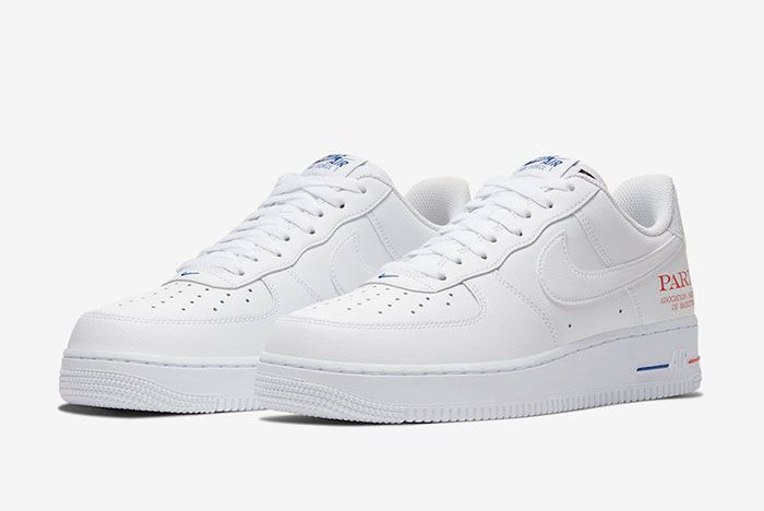 Nike Air Force 1 Low Nba Paris Cw2367 100 Front Angle