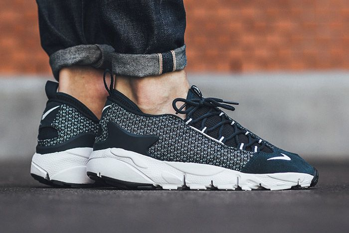 Nike Air Footscape Jacquard Armory Navy Blue White 3