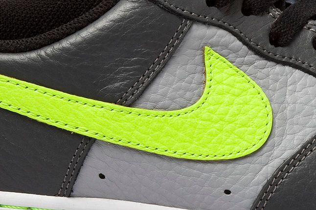 Nike Air Force 1 Grey Volt Side Panel 1