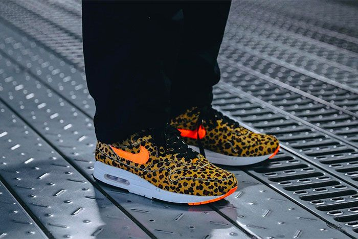 Atmos Nike Air Max 1 Animal 3 0 Pack On Foot Cheetah Three Quarter Angled Side Shot