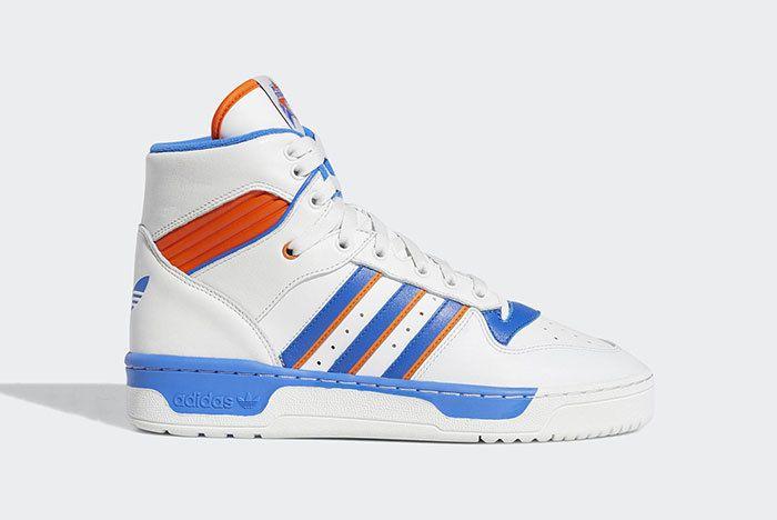 Adidas Rivalry Hi Knicks White Blue Orange F34139 2