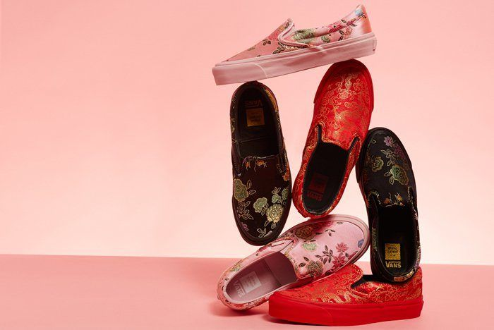 Opening Ceremony X Vans Slip On Qi Pao Pack