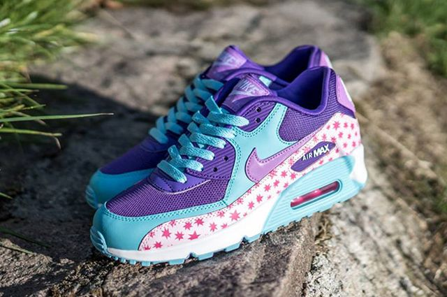 Nike Air Max 90 Gs Playful Stars For Kids 03